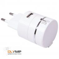 Сетевой адаптер PLUG для зарядки устройств c USB выходом и кабелем 3-в-1