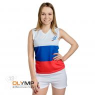Форма волейбольная женская без рукава с V-вырезом