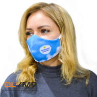 Маска для лица с принтом, защитная многоразовая анатомической формы, внутренний слой х/б