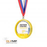 Медаль из акрила 3-слойная с УФ-печатью