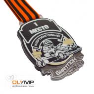 Медаль из акрила с пластиком 3-слойная (один слой пластика)