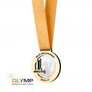Медаль из акрила с пластиком 3-слойная (два слоя пластика)
