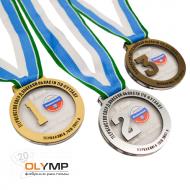 Медаль из акрила 3-слойная (два слоя пластика) с УФ-печатью