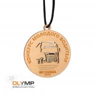 Медаль из дерева с гравировкой