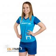 Форма волейбольная женская с коротким рукавом и V-вырезом