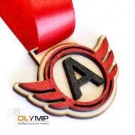 Медаль из дерева 2-слойная с УФ-печатью