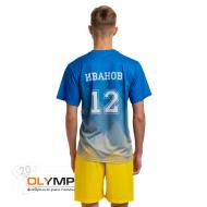 Форма волейбольная мужская с коротким рукавом и O-вырезом