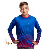 Футболка с полной запечаткой детская, модель с длинным рукавом, материал прима
