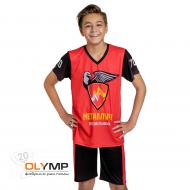 Форма футбольная детская с коротким рукавом и V-вырезом