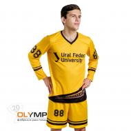 Форма футбольная мужская с длинным рукавом и V-вырезом