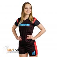 Форма футбольная женская с коротким рукавом и V-вырезом