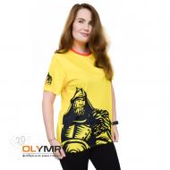 Футболка с полной запечаткой женская, модель с коротким рукавом, материал прима