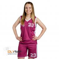 Форма баскетбольная женская без рукава с V-вырезом