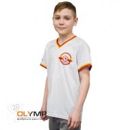 Футболка с полной запечаткой детская, модель с коротким рукавом, материал ложная сетка