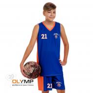 Форма баскетбольная детская без рукава с V-вырезом