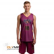 Форма баскетбольная мужская без рукава с V-вырезом