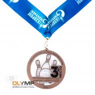 Медаль из акрила с пластиком 2-слойная